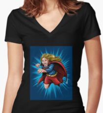 A Super Heroine Women's Fitted V-Neck T-Shirt