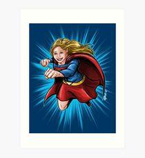 A Super Heroine Art Print