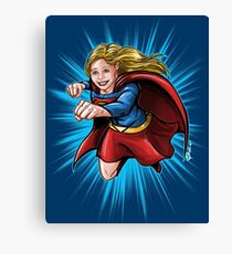 A Super Heroine Canvas Print