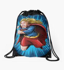 A Super Heroine Drawstring Bag
