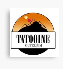 tatooine circle graphic Canvas Print