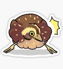 Surprised Quail Sticker