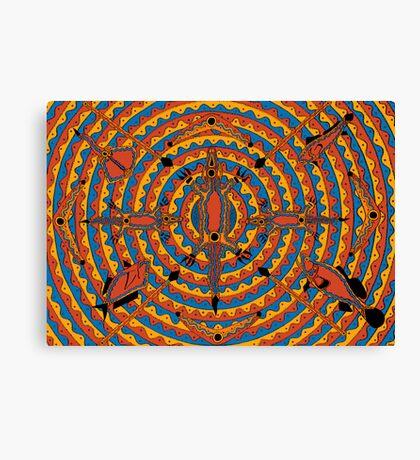 Mayoorr - (natural permanent fish trap) lalin season (summer) Canvas Print