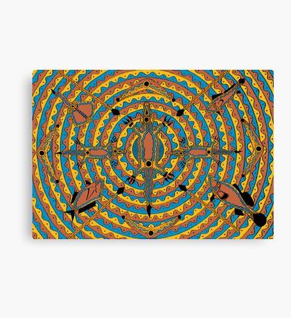 Mayoorr - (natural permanent fish trap) irralb season (autumn) Canvas Print
