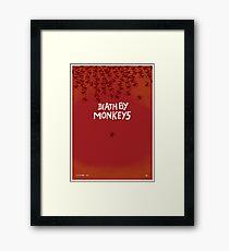 Death by Monkeys Framed Print