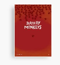 Death by Monkeys Canvas Print