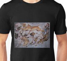 BULLIE CART Watercolour of Bull Terriers Pulling a Cart! Unisex T-Shirt