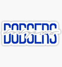 dodgers team name font Sticker