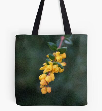 Painted Yellow Buds Tote Bag