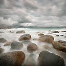 stone beach after the rain by Hogne
