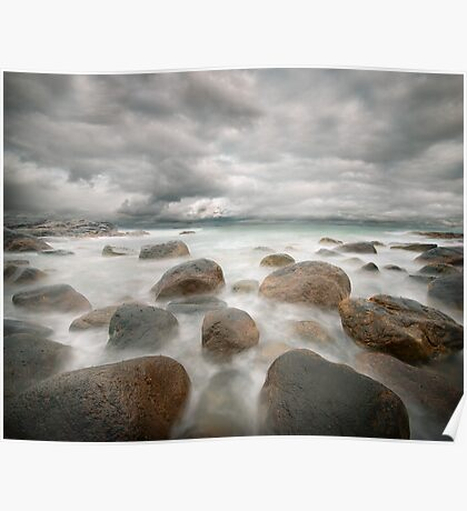 stone beach after the rain Poster