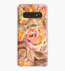 Watercolor Hand-Painted Red Yellow Autumn Fall Roses Case/Skin for Samsung Galaxy