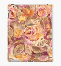 Watercolor Hand-Painted Red Yellow Autumn Fall Roses iPad Case/Skin
