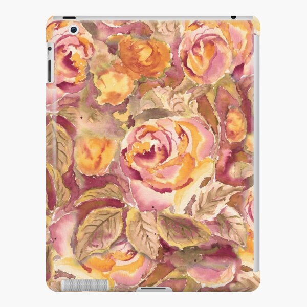Watercolor Hand-Painted Red Yellow Autumn Fall Roses iPad Snap Case
