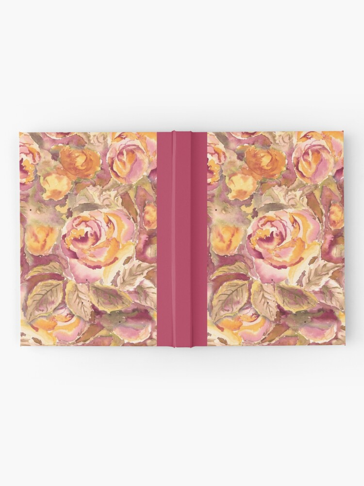 Alternate view of Watercolor Hand-Painted Red Yellow Autumn Fall Roses Hardcover Journal