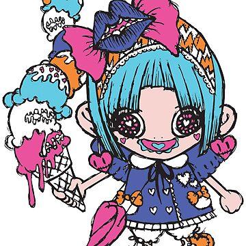 Kawaii Ice Cream Girl by AyaMasuda