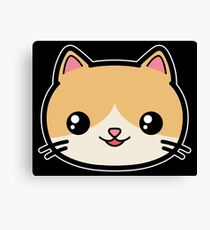 Cute Kawaii Cat Canvas Print