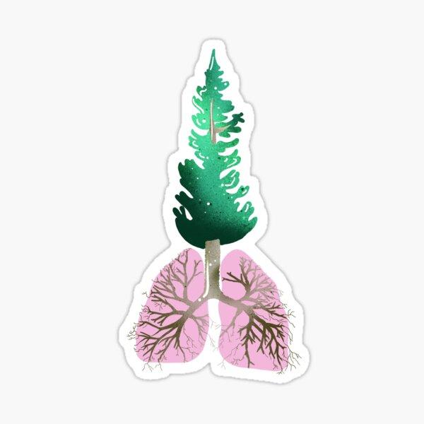 Organic lungs Sticker