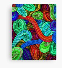 Psychedelic Lines (Red) Canvas Print