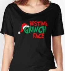 Resting Grinch Face, Christmas Design Women's Relaxed Fit T-Shirt