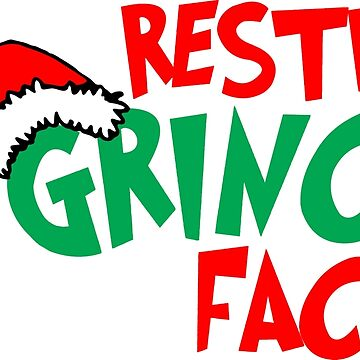 Resting Grinch Face, Christmas Design by Jandsgraphics