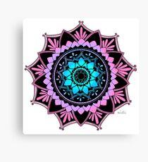 Awakening Mandala Colourized Blue Canvas Print