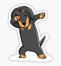 Dabbing Dachshund Funny Doxie Sticker