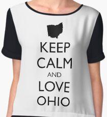 KEEP CALM and LOVE OHIO Chiffon Top