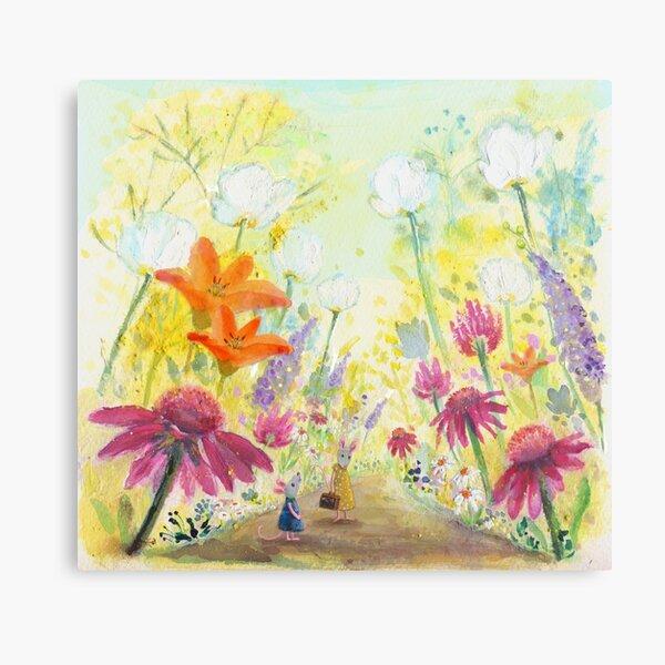 through the garden Canvas Print