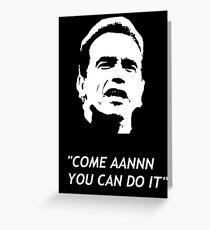 Arnold Schwarzenegger Grußkarte