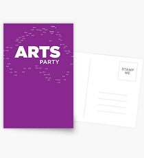 The Arts End of the World - Arts Party Postcards