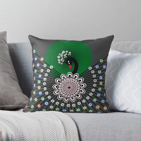 Peacock 5 Throw Pillow