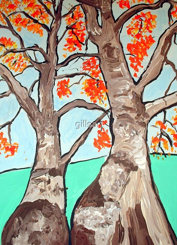 Boab trees  by gillsart