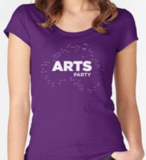 The Arts End of the World - Arts Party Women's Fitted Scoop T-Shirt
