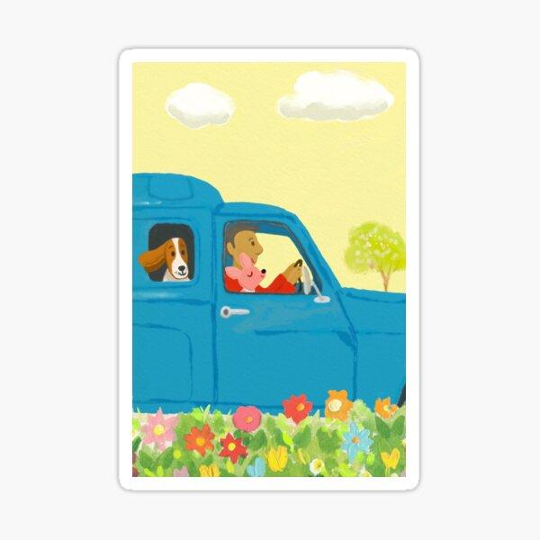 doggy day trip Sticker