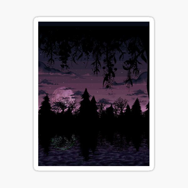 forest night Pegatina