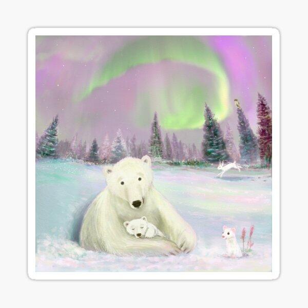polar bear and baby Sticker