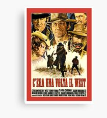 Old western movie poster Canvas Print