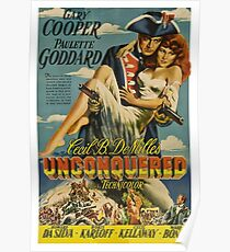 Unconquered, old western movie poster Poster