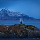 Arctic Circle Marker Norway by Dave  Knowles