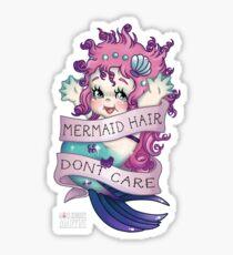 Mermaid Hair Don't Care Sticker