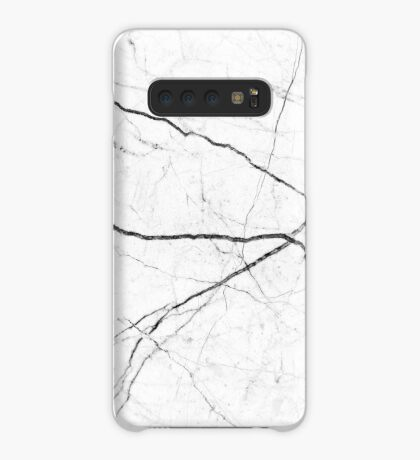 Mármol abstracto blanco textura Funda/vinilo para Samsung Galaxy