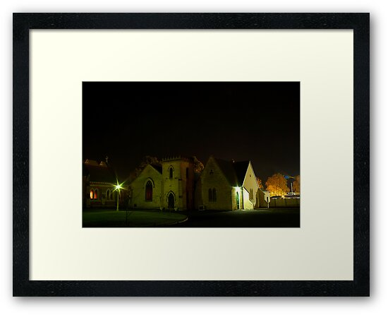 Anglican Hall at Night by Biggzie