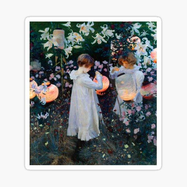 Vintage John Singer Sargent Carnation Lily Lily Rose 1885 Fine Art Sticker