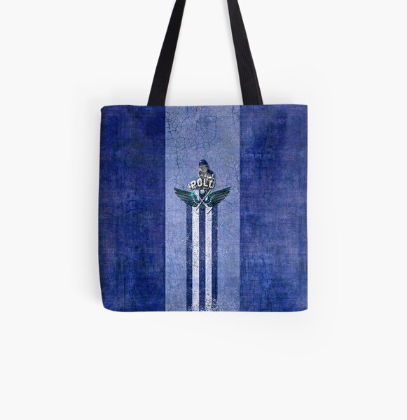 polo player blue All Over Print Tote Bag