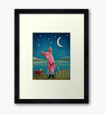 farmer pig Framed Print
