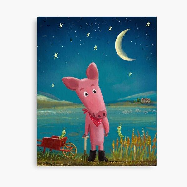 farmer pig Canvas Print