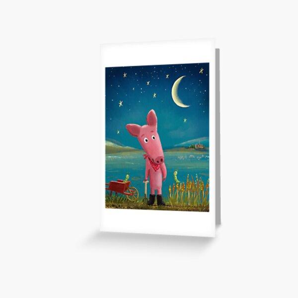 farmer pig Greeting Card