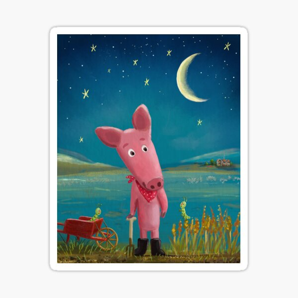 farmer pig Sticker