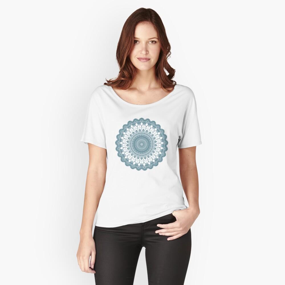 Boho Blue Mandala Women's Relaxed Fit T-Shirt Front